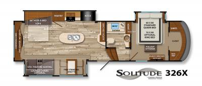 2017 Grand Design Solitude 326X floorplan