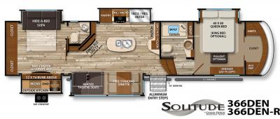 2017 Grand Design Solitude 366DEN floorplan