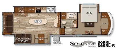 2017 Grand Design Solitude 369RL floorplan