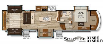 2017 Grand Design Solitude 375RE floorplan
