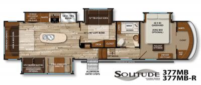 2017 Grand Design Solitude 377MB floorplan