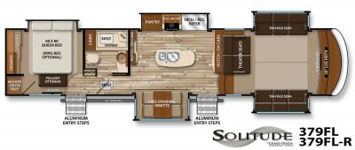 2017 Grand Design Solitude 379FL floorplan
