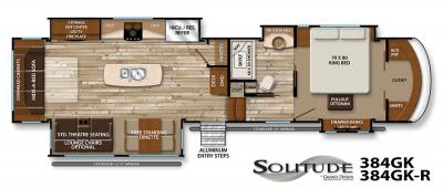 2017 Grand Design Solitude 384GK floorplan