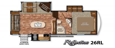 2017 Grand Design Reflection 26RL floorplan