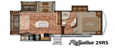 2017 Grand Design Reflection 29RS floorplan