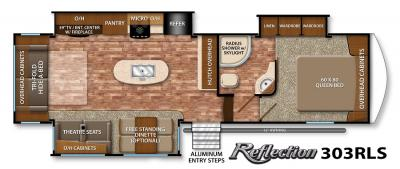 2017 Grand Design Reflection 303RLS floorplan