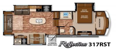 2017 Grand Design Reflection 317RST floorplan