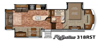 2017 Grand Design Reflection 318RST floorplan