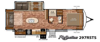 2017 Grand Design Reflection 297RSTS floorplan