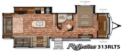 2017 Grand Design Reflection 313RLTS floorplan