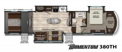 2017 Grand Design Momentum 380TH floorplan