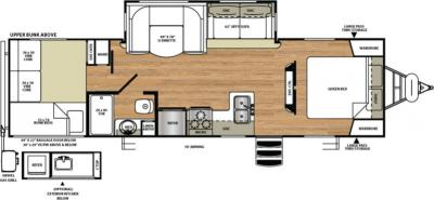 2017 Forest River Vibe Extreme Lite 287QBS floorplan