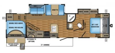 2017 Jayco Eagle HT 295DBOK floorplan