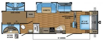 2017 Jayco Eagle HT 314BHDS floorplan