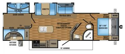 2017 Jayco Eagle HT 324BHTS floorplan