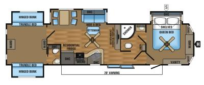 2017 Jayco Jay Flight Bungalow 40BHQS floorplan