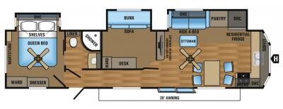 2017 Jayco Jay Flight Bungalow 40BHTS floorplan