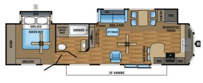 2017 Jayco Jay Flight Bungalow 40FKDS floorplan