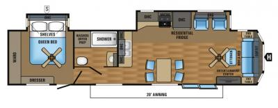 2017 Jayco Jay Flight Bungalow 40FSDS floorplan
