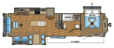 2017 Jayco Jay Flight Bungalow 40RLTS floorplan