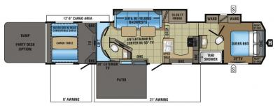 2017 Jayco Seismic 4113 floorplan