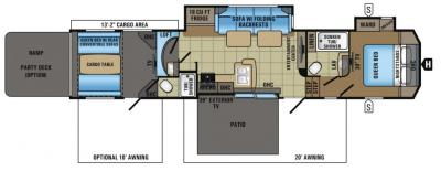 2017 Jayco Seismic 4213 floorplan