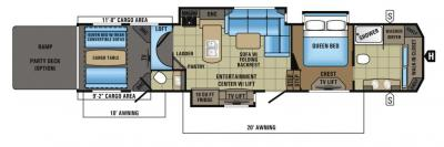 2017 Jayco Seismic 4250 floorplan