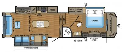 2017 Jayco Designer 37RS floorplan