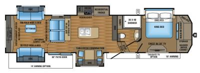 2017 Jayco Designer 39RE floorplan