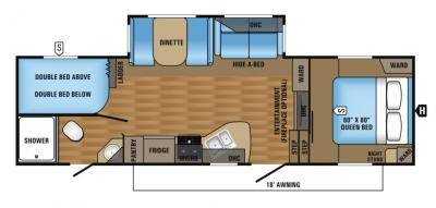 2017 Jayco Eagle HT 26.5BHS floorplan