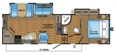 2017 Jayco Eagle HT 27.5RKDS floorplan