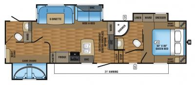 2017 Jayco Eagle HT 28.5BHXB floorplan