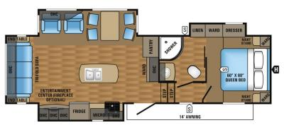 2017 Jayco Eagle HT 28.5RSTS floorplan