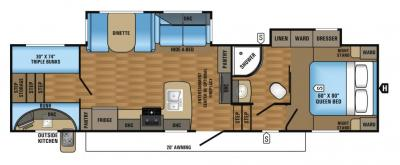 2017 Jayco Eagle HT 29.5BHOK floorplan