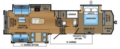 2017 Jayco North Point 301RETS floorplan