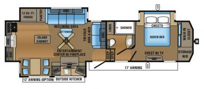 2017 Jayco North Point 311RKTS floorplan