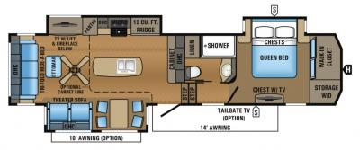 2017 Jayco North Point 315RLTS floorplan