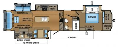 2017 Jayco North Point 351RSQS floorplan