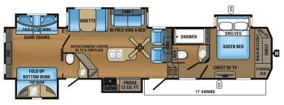 2017 Jayco North Point 375BHFS floorplan