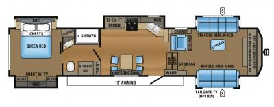 2017 Jayco North Point 383FLFS floorplan