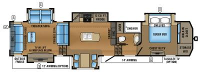 2017 Jayco North Point 387RDFS floorplan