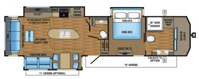 2017 Jayco Pinnacle 36FBTS floorplan
