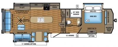 2017 Jayco Pinnacle 36KPTS floorplan