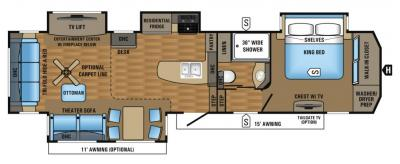 2017 Jayco Pinnacle 36RSQS floorplan