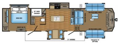 2017 Jayco Pinnacle 38FLSA floorplan
