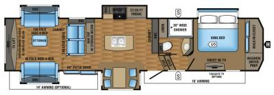 2017 Jayco Pinnacle 38REFS floorplan