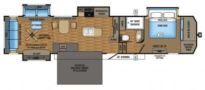2017 Jayco Pinnacle 39SPQS floorplan