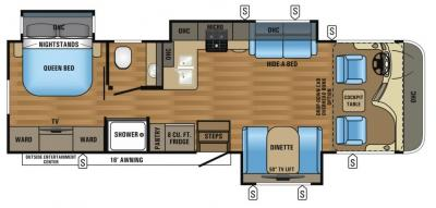 2017 Jayco Precept 31UL floorplan
