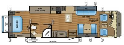 2017 Jayco Precept 35UP floorplan