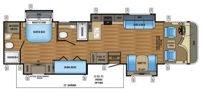 2017 Jayco Precept 36T floorplan